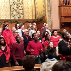 Photo taken at Middle Collegiate Church by Sissy V. on 12/21/2014