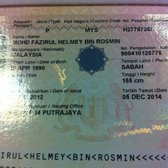 Photo taken at Immigration Department (Jabatan Imigresen) Presint 14 Branch by FAYE on 12/5/2012