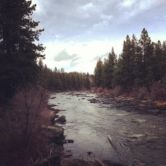 Photo taken at Deschutes River Trail Footbridge by Ilya G. on 4/8/2013