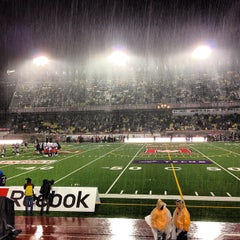 Photo taken at Stade Percival-Molson Memorial Stadium by Jean-Francois G. on 8/23/2013