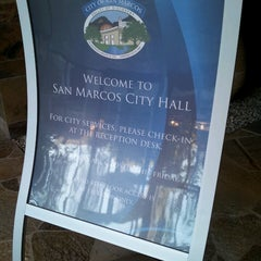 Photo taken at San Marcos City Hall by Brigette on 11/6/2014