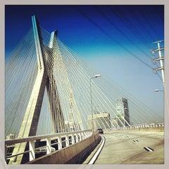 Photo taken at Ponte Octávio Frias de Oliveira (Ponte Estaiada) by Christian M. on 5/9/2013