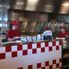 Photo taken at Five Guys Burgers And Fries by Peggy F. on 4/25/2013