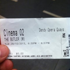 Photo taken at Dendy Cinemas by Andrew G. on 10/29/2013