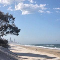 Photo taken at Nobby Beach by Stephen V. on 10/1/2014