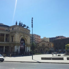 Photo taken at Piazza Ruggero Settimo by Frank G. on 6/8/2013