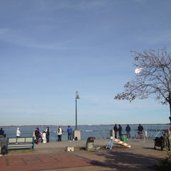 Photo taken at Canarsie Pier by Derek D. on 10/13/2012