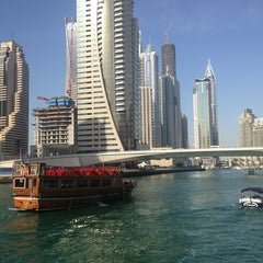 Photo taken at Dubai Marina Walk ممشى مرسى دبي by E F. on 2/23/2013
