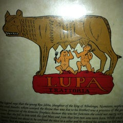 Photo taken at Lupa Trattoria by Melissa W. on 9/18/2012
