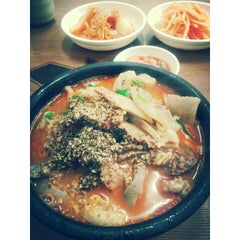 Photo taken at 아바이순대국 by Sejin P. on 6/10/2014