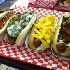 Photo taken at Fab Hot Dogs by William T. on 1/26/2013