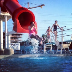 Photo taken at Munster Community Pool by Gnarly J. on 6/17/2013