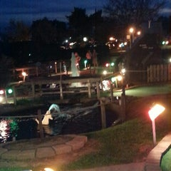 Photo taken at Udders and Putters Mini Golf Course by Heather B. on 10/13/2013