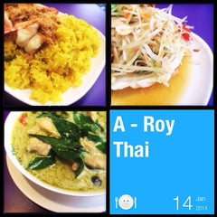 Photo taken at A-Roy Thai Restaurant by Victor T. on 1/14/2014