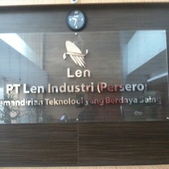 Photo taken at PT. LEN Industri (Persero) by Kha T. on 7/7/2014