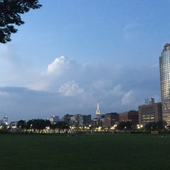 Photo taken at Battery Park City by Gabby D. on 7/21/2015