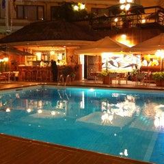 Photo taken at La piscine de l'Hotel Memling by Vincent L. on 10/27/2013