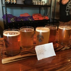 Photo taken at Barrier Brewing Co. by Andrew B. on 8/2/2015