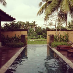 Photo taken at The Chedi Club at Tanah Gajah Bali by David S. on 5/14/2013