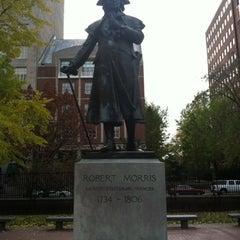 Photo taken at Robert Morris Statue by Adam C. on 11/6/2012
