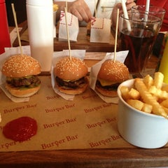 Photo taken at Burger Bar by Melike C. on 2/22/2013