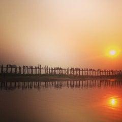 Photo taken at U Bein Bridge by Marina D. on 2/28/2013