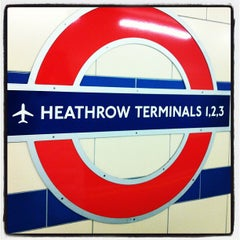 Photo taken at Heathrow Airport Terminals 1, 2 & 3 London Underground Station by dollyjune .. on 12/31/2012