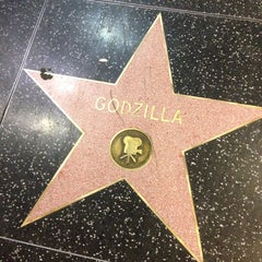 Photo taken at Godzilla's Star, Hollywood Walk of Fame by Jay H. on 8/23/2013