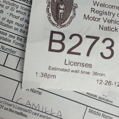 Photo taken at Registry of Motor Vehicles by Camilla M. on 12/26/2012
