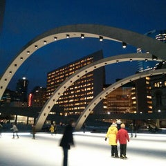 Photo taken at Nathan Phillips Square by Herb C. on 2/21/2013