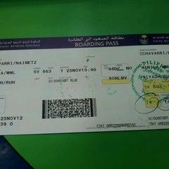 Photo taken at Saudia Airlines, NAIA Terminal 1 by Nainetz E. on 11/25/2012