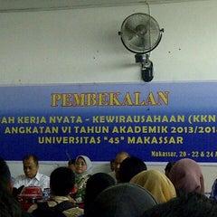 """Photo taken at Universitas """"45"""" Makassar by amma n. on 8/20/2013"""