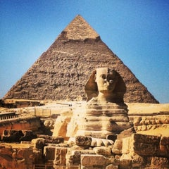 Photo taken at Great Sphinx of Giza | تمثال أبو الهول by ✈✈ Mhmtali. ✈✈ on 5/17/2013