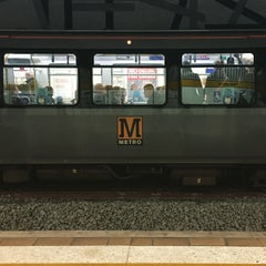 Photo taken at Jesmond Metro Station by Wil B. on 3/1/2015