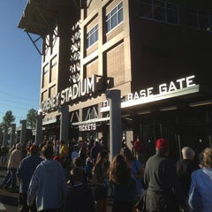 Photo taken at Cheney Stadium by Greg M. on 8/18/2013