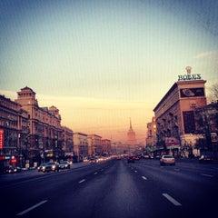 Photo taken at Кутузовский проспект by Anna S. on 11/23/2012
