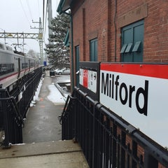 Photo taken at Metro North - Milford Train Station by Inara C. on 3/28/2015