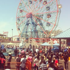 Photo taken at Coney Island Beach & Boardwalk by Thomas S. on 5/27/2013