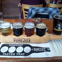 Photo taken at Rogue Ales Bayfront Public House by Tiana on 9/18/2012
