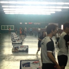 Photo taken at CC Badminton Court by Nickname E. on 1/25/2014