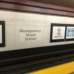 Photo taken at Montgomery St. BART Station by Jack W. on 7/8/2013