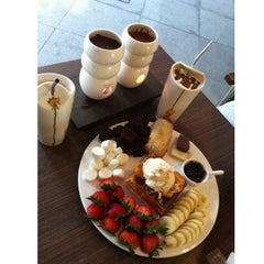 Photo taken at Max Brenner Chocolate Bar by Zahari N. on 10/14/2012
