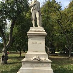 Photo taken at Alexander Hamilton Statue by Alex K. on 9/27/2015