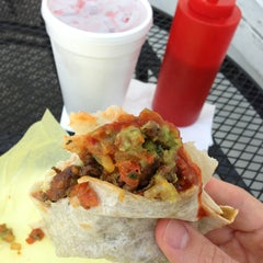 Photo taken at Taco Rey Taco Shop by Javier O. on 8/3/2013