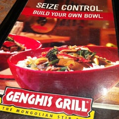 Photo taken at Genghis Grill by Oscar C. on 5/11/2012