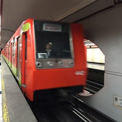 Photo taken at Metro Aquiles Serdán (Línea 7) by Ro on 3/9/2016