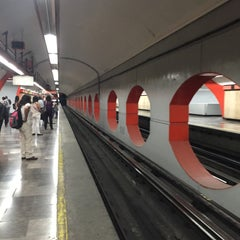 Photo taken at Metro Aquiles Serdán (Línea 7) by Ro on 3/15/2016