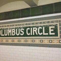 Photo taken at MTA Subway - 59th St/Columbus Circle (A/B/C/D/1) by Alejo C. on 11/23/2012