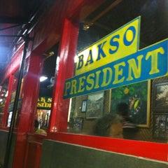 Photo taken at Bakso President by Donny K. on 11/16/2012