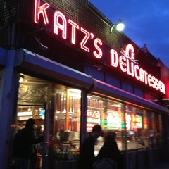 Photo taken at Katz's Delicatessen by Luciano B. on 3/28/2013